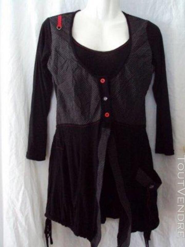 Tunique Tshirt  noir CACHE CACHE 42 219404502