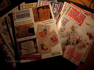 """Un lot de 12 magazines """"Tous les ouvrages Broderie"""""""