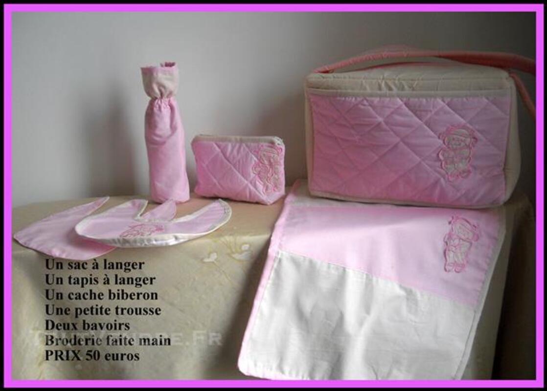 Un sac à langer Rose et beige 77708512