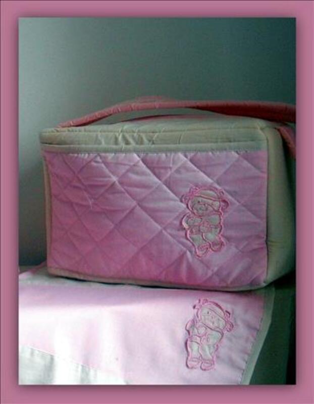 Un sac à langer Rose et beige 77708513