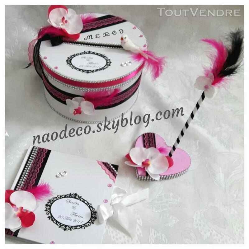 Urne blanc noir rose  fuchsia 144578913