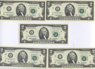 USA BILLET DE 2 DOLLARS NEUF PORTE BONHEUR