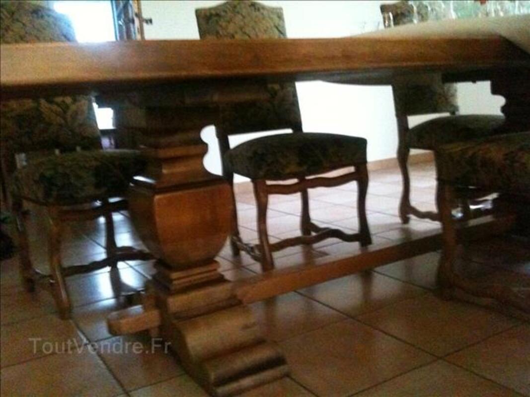 Vaisselier Louix XIV + table monastère + 6 chaises. 98112182