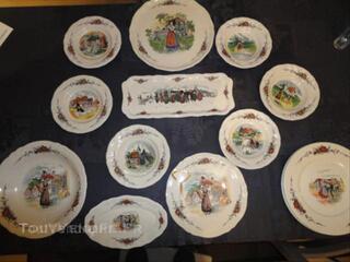 Vaisselle alsacienne Sarreguemines Obernai neuve
