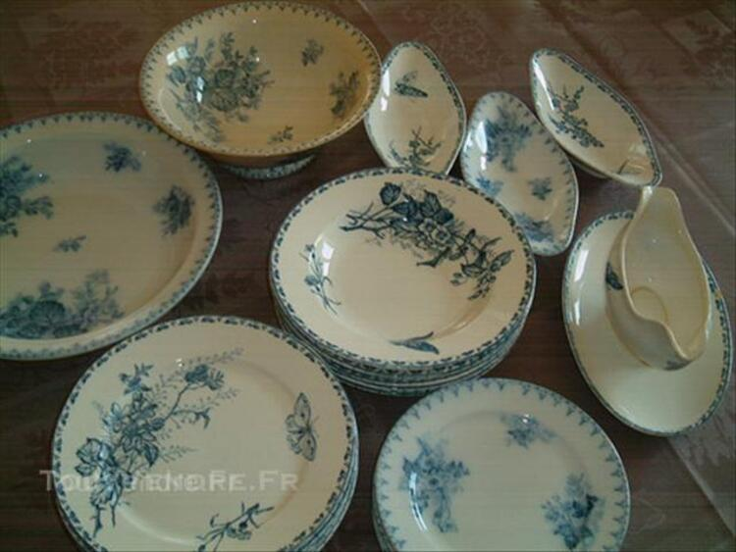 Vaisselles anciennes sarreguemines carmen et flore u&c 44997027