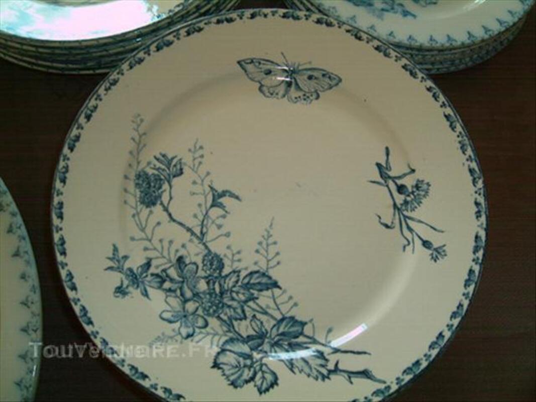 Vaisselles anciennes sarreguemines carmen et flore u&c 44997028
