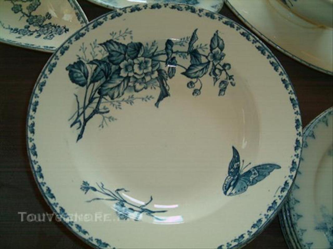 Vaisselles anciennes sarreguemines carmen et flore u&c 44997029