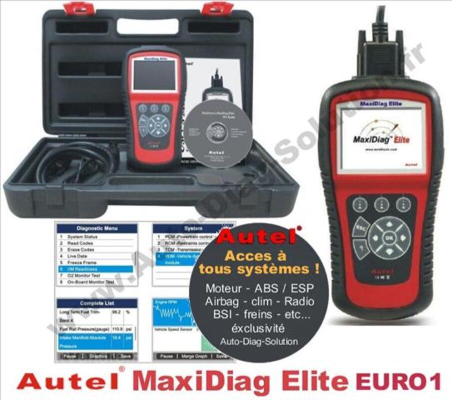 Valise diagnostic Auto AUTEL MaxiDiag Elite - tous Systèmes 66816406
