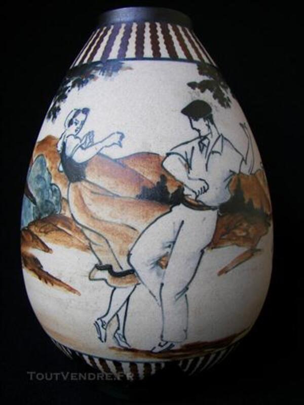Vase de CIBOURE signé  LE  CORRONE    R.F.  de 20 cm. 76147068