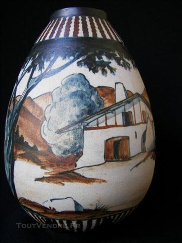 Vase de CIBOURE signé  LE  CORRONE    R.F.  de 20 cm. 76147070