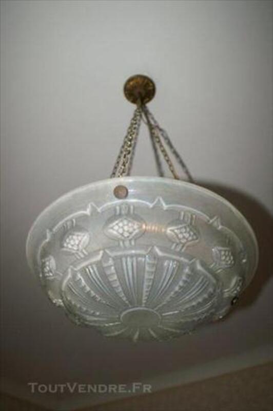 Vasque suspension pâte de verre déb XXè s. art déco 75700364