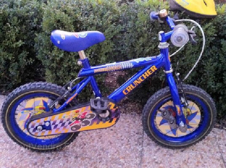 Vélo bleu enfant de 3 à 6 ans + casque 91258712