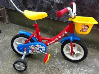 Vélo enfant 10 pouce avec canne