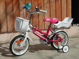 Vélo enfant GITANE 12 pouces - rose, pour fille 2-4 ans