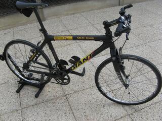 Vélo VTT équipé route