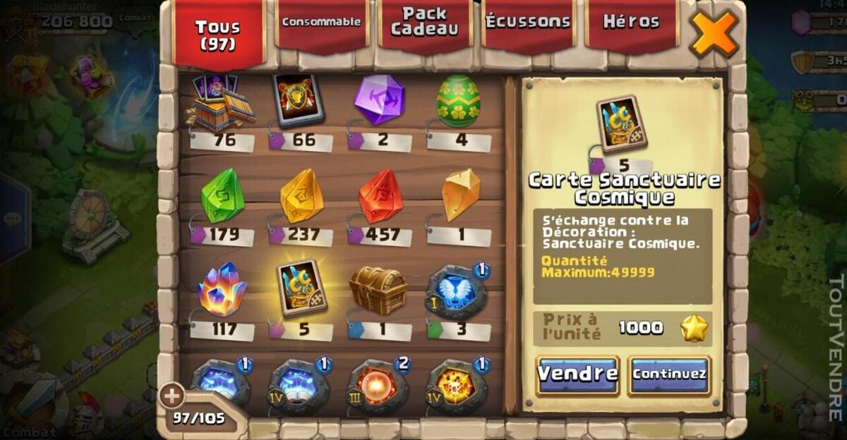 Vend compte castle clash 507869906