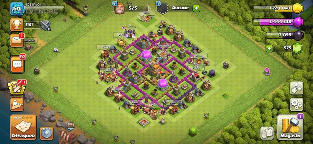 Vend compte clash of clan hdv 7 659717340