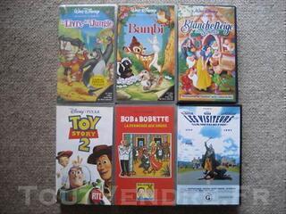 Vends cassettes vidéo films Disney et autres