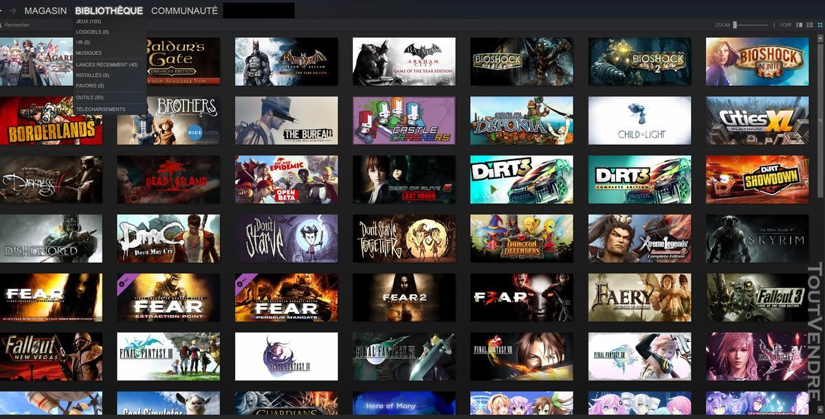 Vends Compte Steam 103 jeux ! 139100441