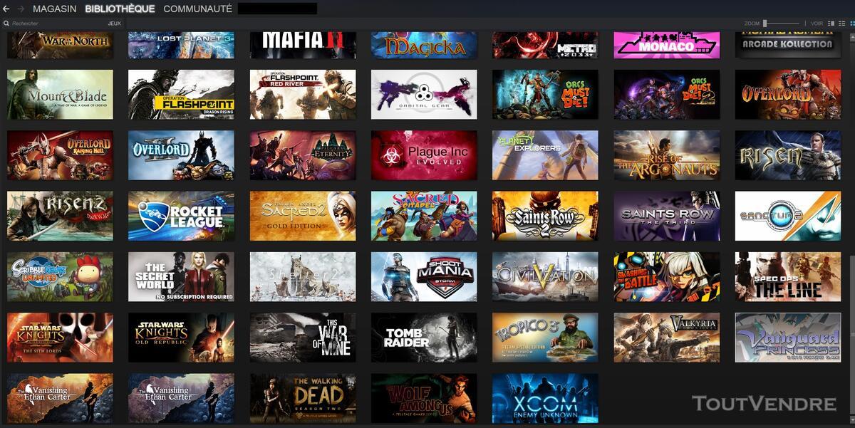 Vends Compte Steam 103 jeux ! 139100454