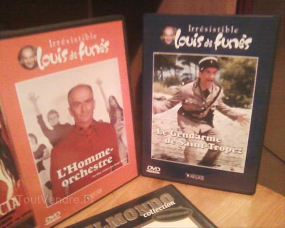 Vends films dvd avec J-P Belmondo et Louis De Funès 54677537