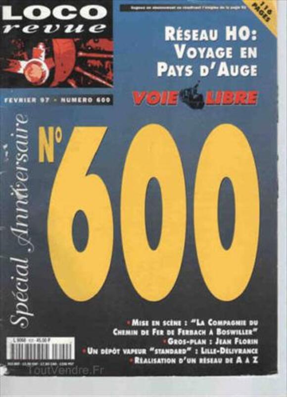 Vends LOCO REVUE N° 600 – Février 1997 87027071