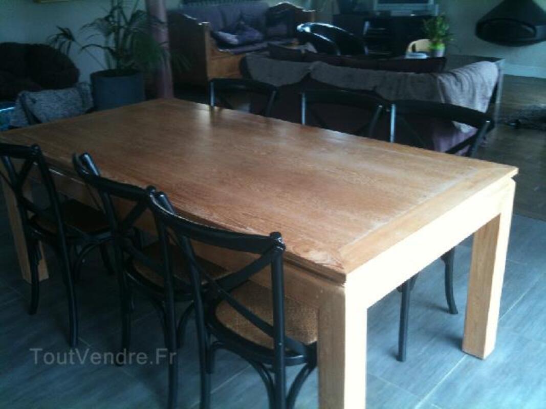 Vends table salle à manger design bois 95269233
