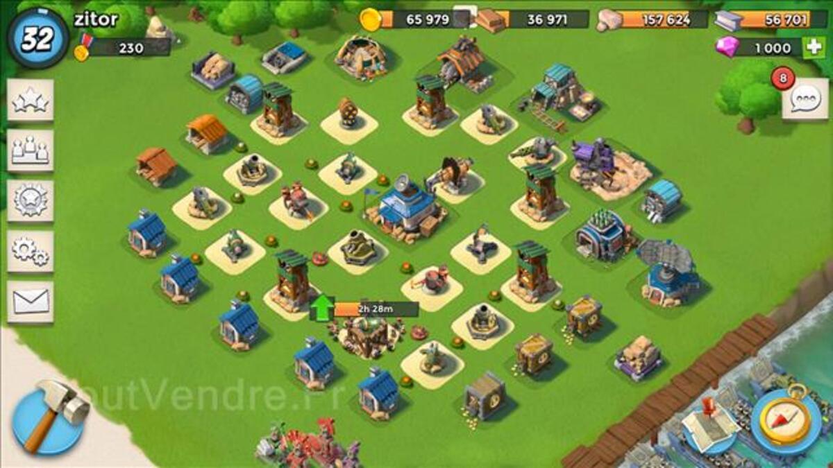 Vente compte clash of clan HDV 10 et offre boom beach 101373304