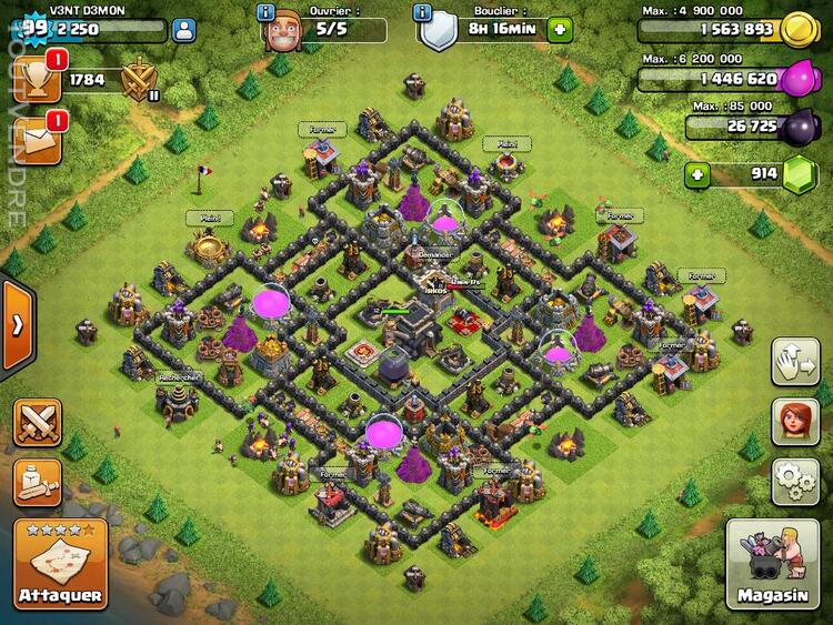 Vente compte Clash of Clans 151806575
