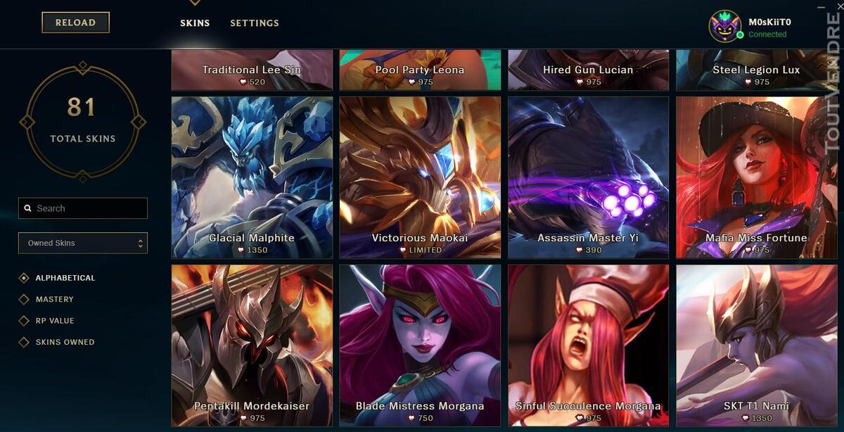 Vente Compte League of legends 332329864