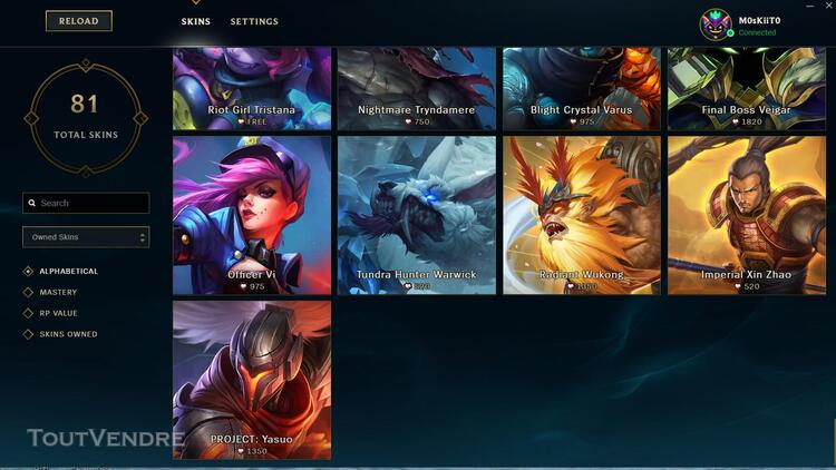 Vente Compte League of legends 332329870