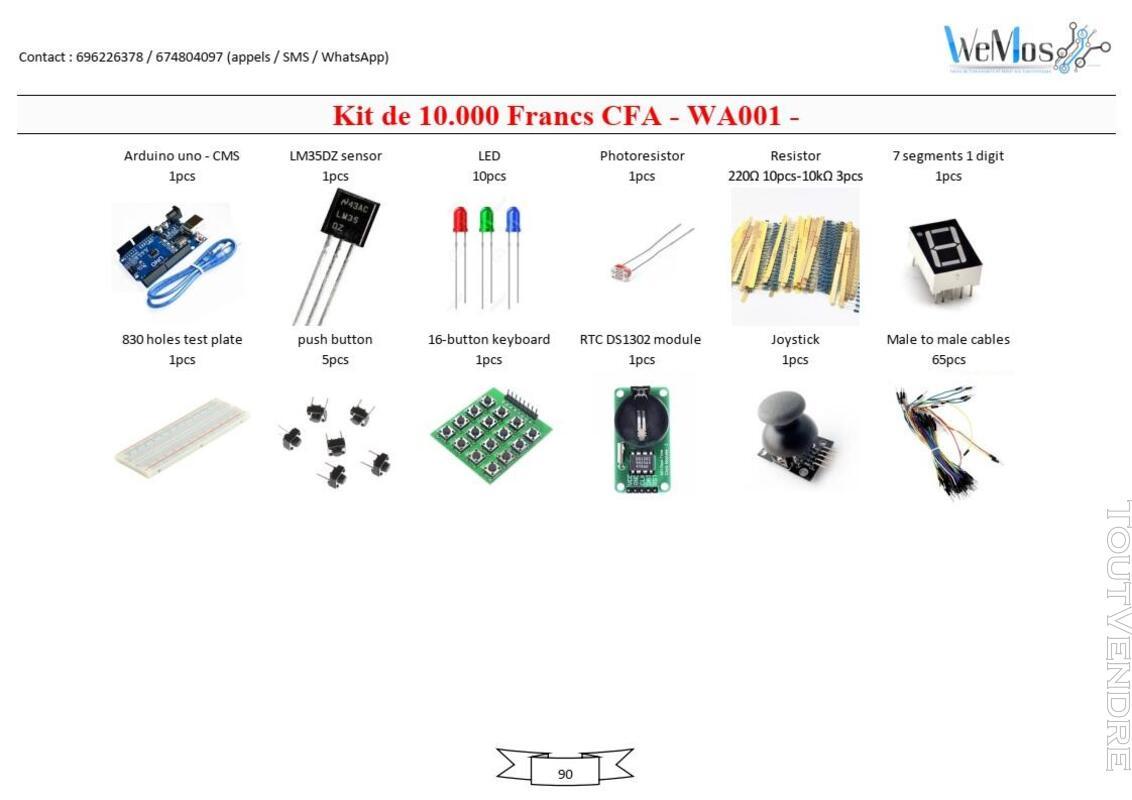 Vente de KIT ARDUINO, modules, shield, composant électroniqu 739043493