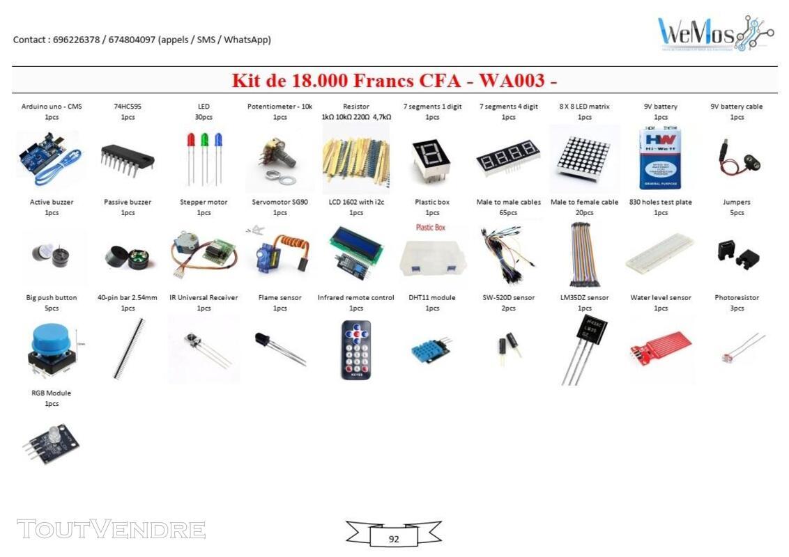 Vente de KIT ARDUINO, modules, shield, composant électroniqu 739043502