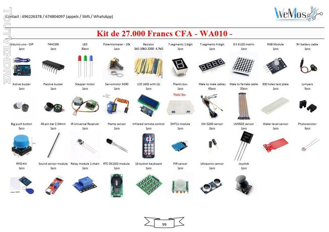 Vente de KIT ARDUINO, modules, shield, composant électroniqu 739043508