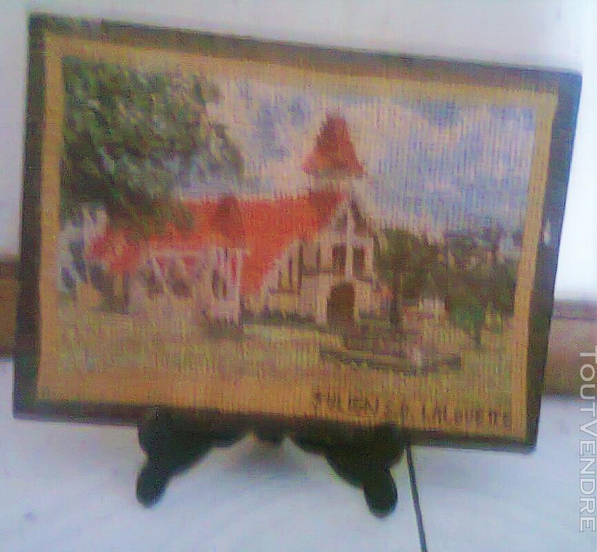 Vente de petit tapisserie fait de point de croix 138012668