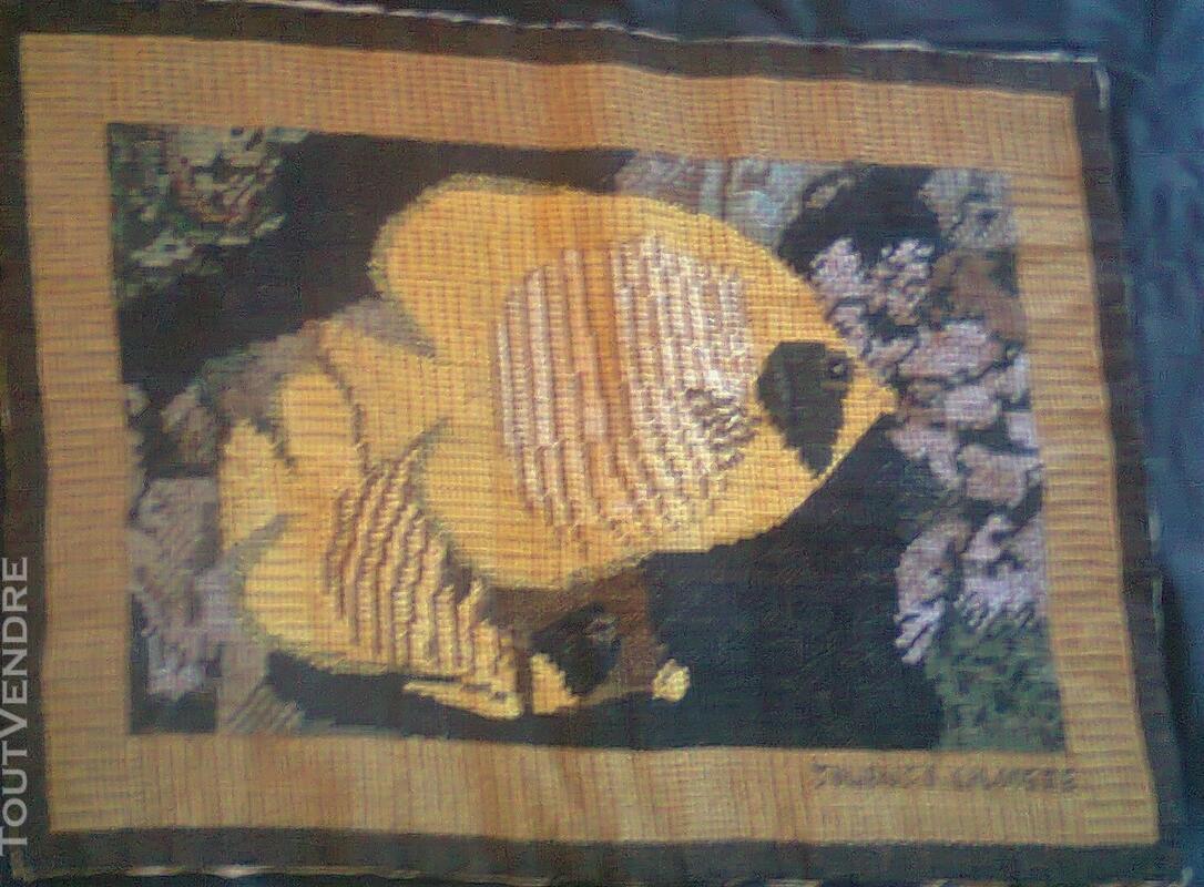 Vente de tapisserie canevas fait de point de croix 136539413