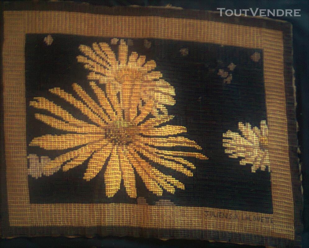 Vente de tapisserie canevas fait de point de croix 136539414