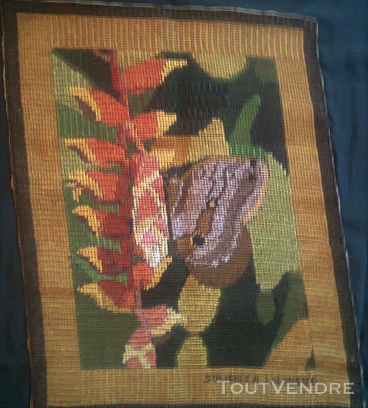 Vente de tapisserie canevas fait de point de croix 137867884