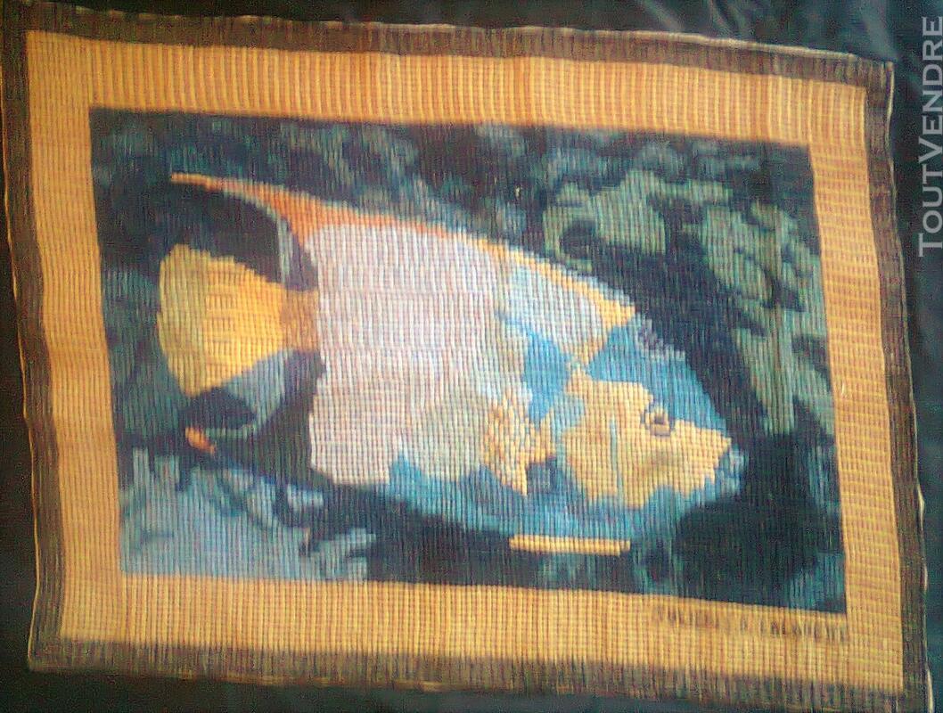 Vente de tapisserie canevas fait de point de croix 137867948