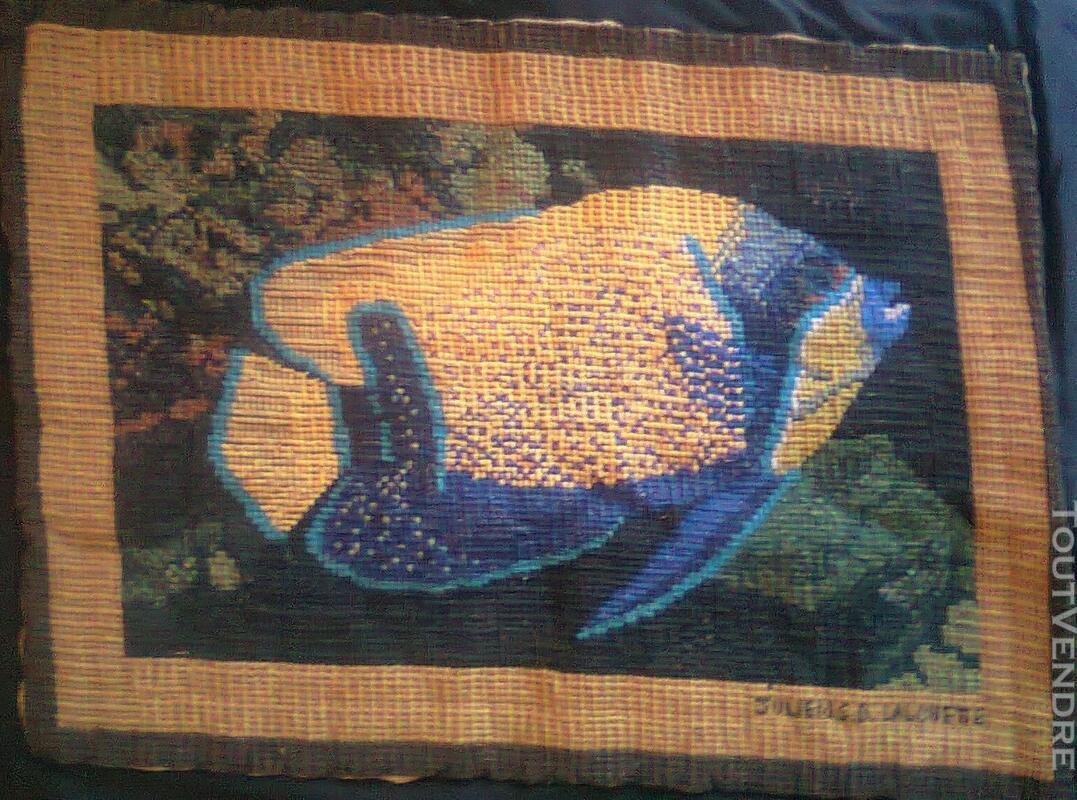 Vente de tapisserie canevas fait de point de croix 137867971