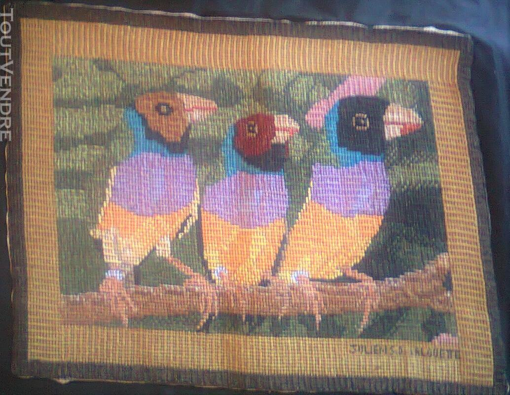 Vente de tapisserie canevas fait de point de croix 137868775