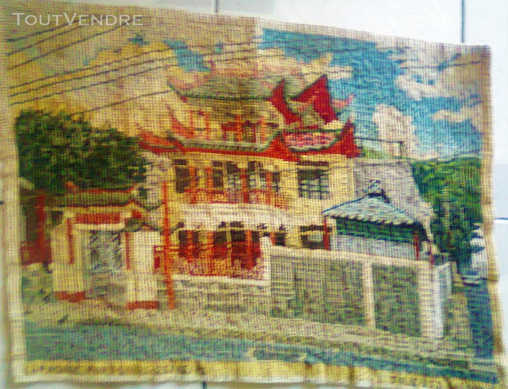 Vente de tapisserie canevas fait de point de croix 137870990