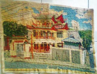 Vente de tapisserie canevas fait de point de croix