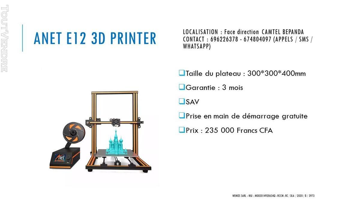 Vente des imprimantes 3D sur douala 741104067
