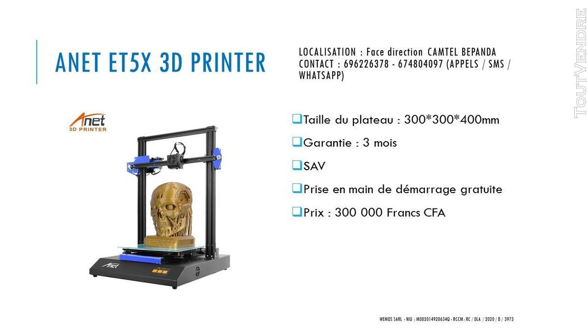 Vente des imprimantes 3D sur douala 741104076