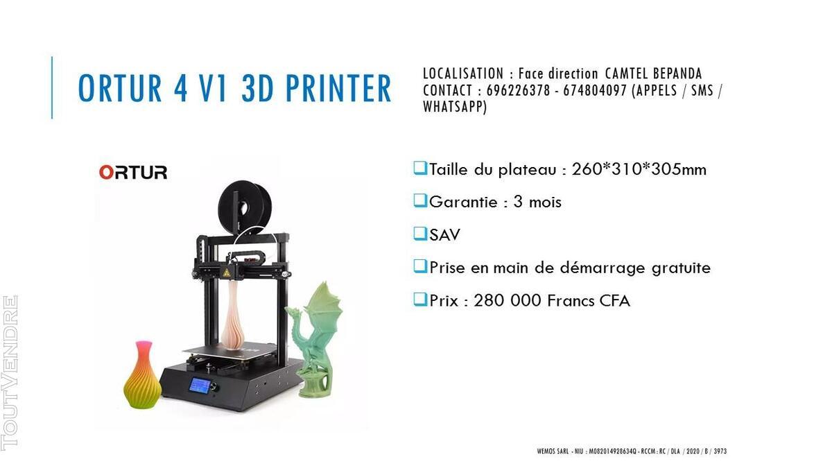 Vente des imprimantes 3D sur douala 741104079