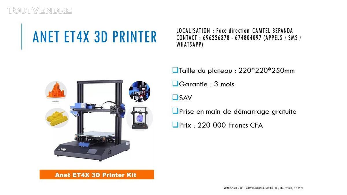 Vente des imprimantes 3D sur douala 741104082