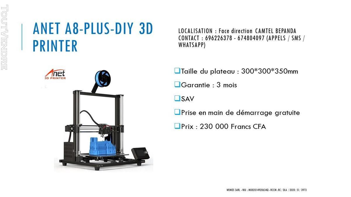 Vente des imprimantes 3D sur douala 741104085