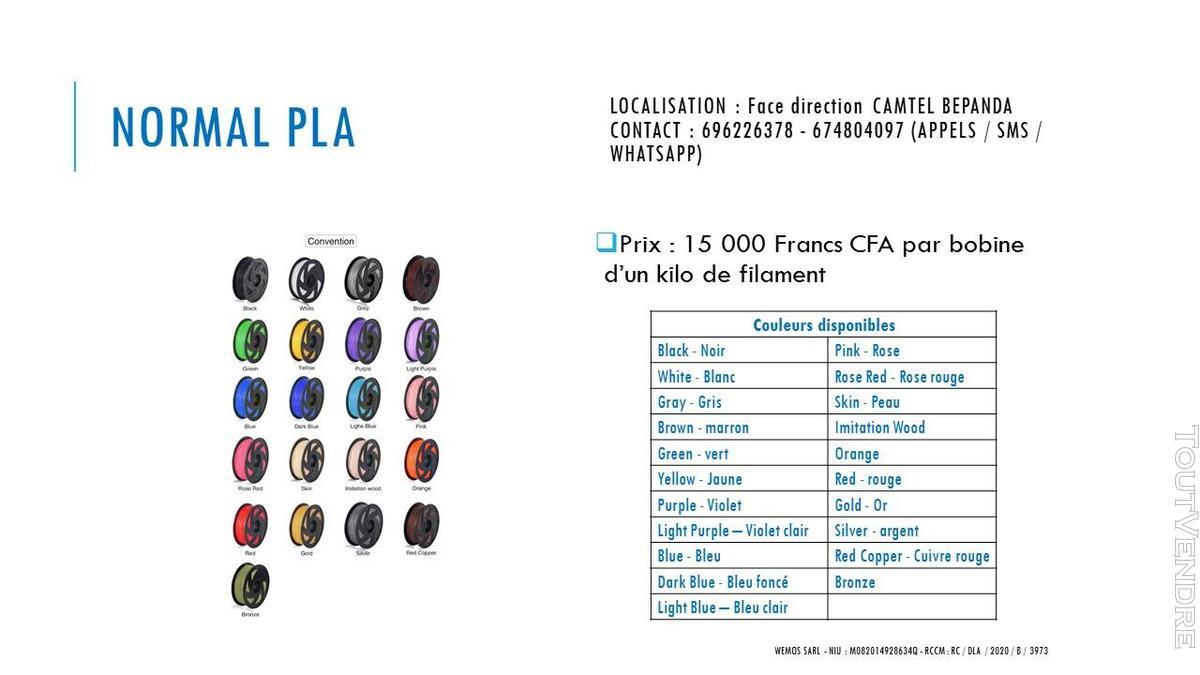 Vente des imprimantes 3D sur douala 741104103