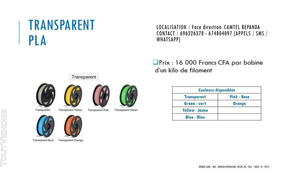 Vente des imprimantes 3D sur douala 741104106